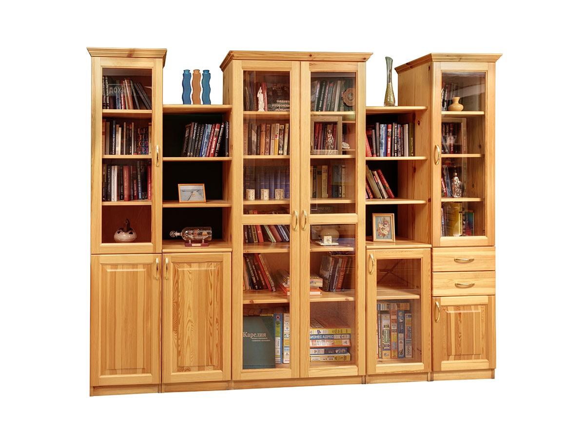 Стенка массив 10 - книжные шкафы, стеллажи - купить в интерн.