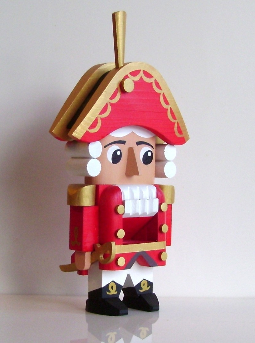 Рождественский щелкунчик, красный