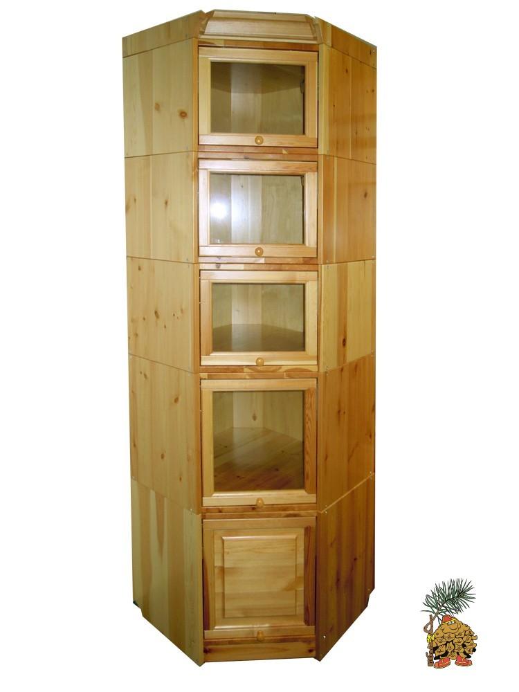 Угловая библиотека из массива сосны