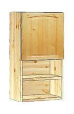 Шкаф кухонный навесной 40 с полкой внизу