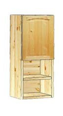 Шкаф кухонный навесной 30 с полками внизу