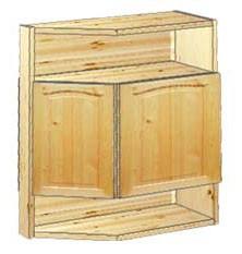 Шкаф кухонный навесной усеченный 62 с нишами