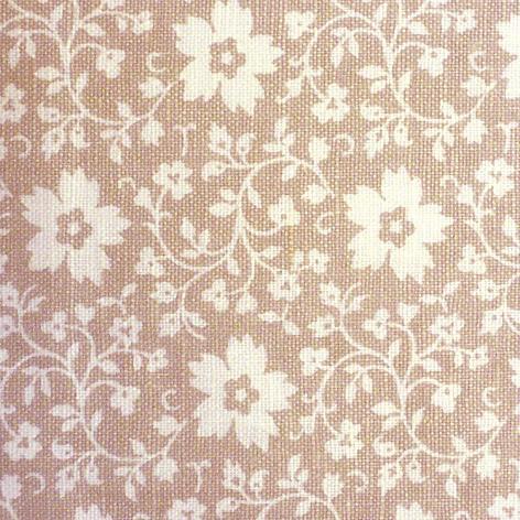 Образец ткани №8 Бежевая в крупный цветок