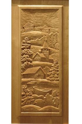 Кухонные дверки с резьбой по дереву, береза