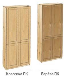 Шкаф с дверьми из массива сосны или березы