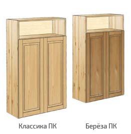 Шкаф средний широкий с нишей вверху