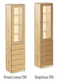 Узкий шкаф с дверью и 5-ю ящиками