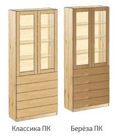 Шкаф с дверьми и 5-ю ящиками