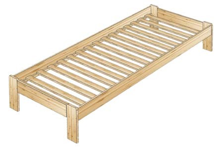 Кровать - топчан из сосны без спинок
