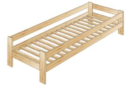 Односпальная кровать с боковыми ограждениями