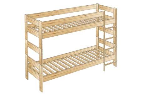 Кровать двухъярусная №58 с накладной лестницей