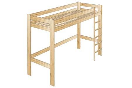 Кровать- чердак из сосны
