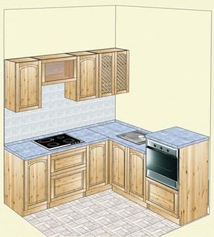 Кухня из карельской сосны