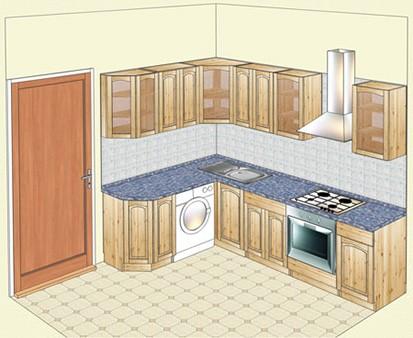 Угловая кухня из  карельской сосны