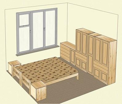 Мебель из массива сосны для спальни