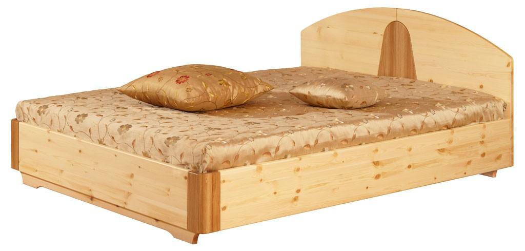 Кровать двуспальная «Элита», сосна, дуб