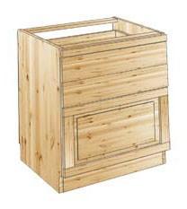Тумба кухонная с 2 ящиками и выдвижным коробом