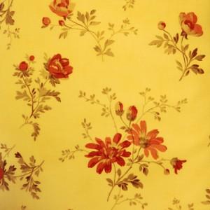 Ткань с крупным рисунком № 35 Красные цветы