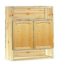 Шкаф кухонный навесной 60 с нишами