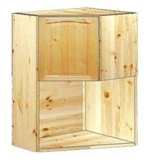 Шкаф кухонный навесной угловой с нишей под ТВ