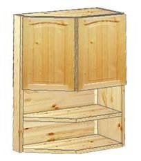 Шкаф кухонный навесной усеченный 52 с нишей внизу