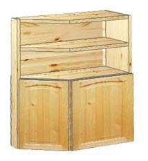 шкаф кухонный навесной усеченный 62 с нишей вверху