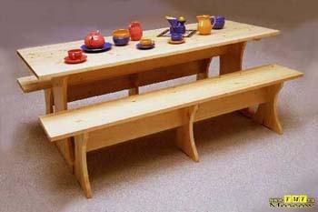 Большой стол из сосны