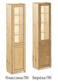 Узкий шкаф для книг с дверьми