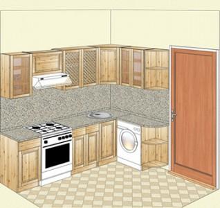Угловая кухня из массива карельской сосны