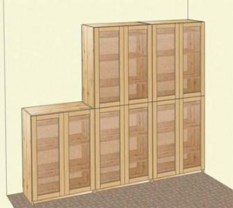 Мебель для библиотек из массива сосны.