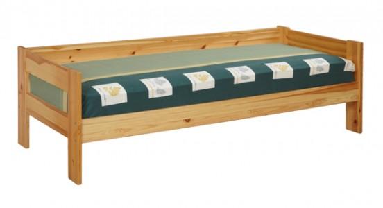 Кровать из сосны с тремя спинками в виде дивана