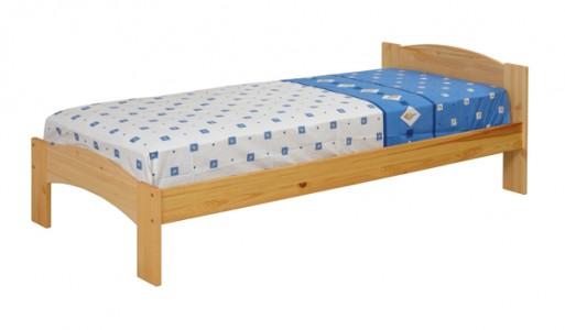 Кровать из сосны Хакка с одной спинкой из массива