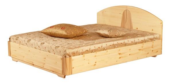 Двуспальная кровать из массива сосны и ясеня Элита
